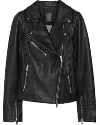 Lot78 - Leather Biker Jacket - Lyst