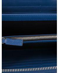 Emporio Armani - Logo Zip Around Wallet - Lyst