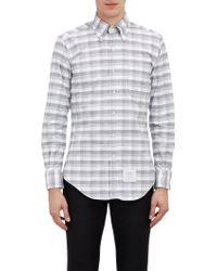Thom Browne Plaid Oxford Shirt - Lyst