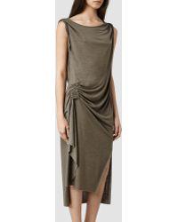 AllSaints Khaki Flores Dress - Lyst