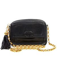 Chanel Pre-Owned Black Tassel Bag black - Lyst