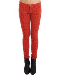 Current/Elliott Ankle Skinny Jean In Poppy Ditsy - Lyst