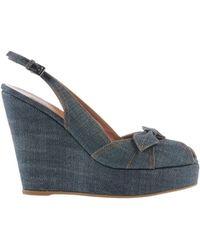 Alaïa Blue Sandals - Lyst