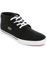 Lacoste Ampthill Lcr2 Black High Sneakers - Lyst