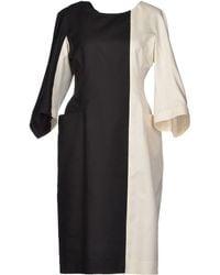 Jil Sander White Knee-length Dress - Lyst