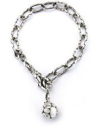 John Hardy Pre-Owned: Sterling Silver Kali Pebble Link Bracelet - Lyst