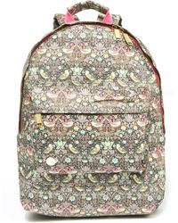 Mi-Pac - Strawberry Thief Printed Backpack - Lyst