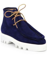 DSquared² | Suede Lace-up Ankle Boots | Lyst