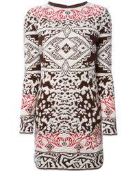 Emilio Pucci Pattern Knit Shift Dress - Lyst
