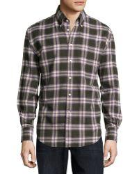Neiman Marcus | Long-sleeve Plaid Flannel Sport Shirt | Lyst