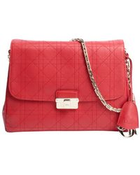 Dior Red Leather Dior Diorling Triple Pouch Shoulder Bag - Lyst