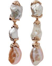 Lucifer Vir Honestus - Freshwater Pearl Drop Earrings - Lyst