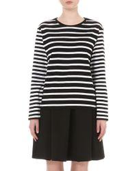 Izzue - Striped Cotton-jersey T-shirt - Lyst
