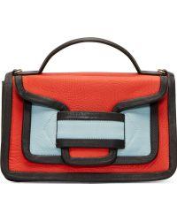 Pierre Hardy Orange Colorblocked Envelope Shoulder Bag - Lyst