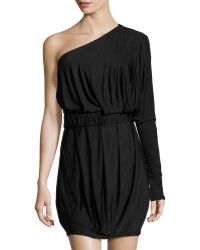 Rachel Zoe Pleated One-shoulder Dress - Lyst