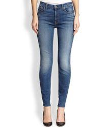 Jen7 Skinny Medium Wash Jeans - Lyst