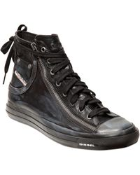 Diesel Magnete Smooth Leather High Top Sneakers - Lyst