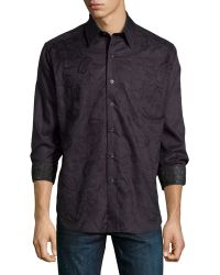 Robert Graham Classic Fit Westport Paisley-Embroidered Sport Shirt - Lyst