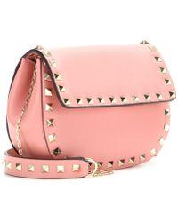 Valentino Rockstud Leather Shoulder Bag - Lyst