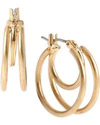 Kenneth Cole - Double Loop Hoop Earrings - Lyst