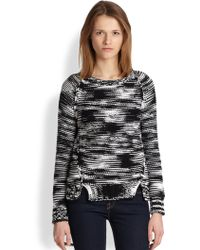 Cardigan | Claudia Space-Dyed Cotton Sweater | Lyst