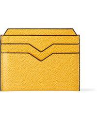Valextra Pebbled-leather Cardholder - Lyst