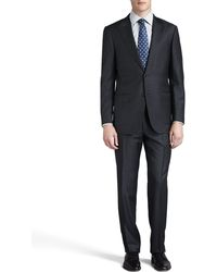 Ermenegildo Zegna Tonal-striped Peak-lapel Suit - Lyst