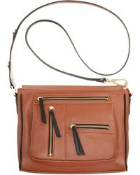 Perlina - Natalia Leather Crossbody - Lyst