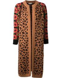 Tak.ori Tak Ori Leopard and Floral Cardigan - Lyst