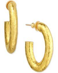 Gurhan - Galahad J Hoop Earrings - Lyst