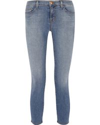 J Brand 835 Cropped Mid-Rise Skinny Jeans - Lyst