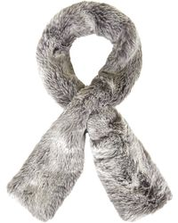 Topshop Luxe Faux Fur Pull-through Stole - Lyst