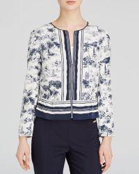 Tory Burch Silk Peplum Jacket - Lyst