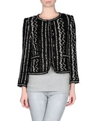 Alice + Olivia Kidman Patterned Box Jacket black - Lyst