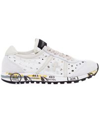 Premiata White 'Lucy' Sneakers - Lyst