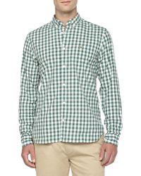 Lacoste Gingham Poplin Shirt - Lyst