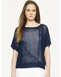 Ralph Lauren Black Label Silk-Linen Boatneck Sweater - Lyst