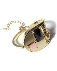 Volha | Onyx Gold Bracelet | Lyst
