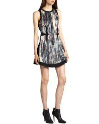 Rebecca Taylor Brushstroke Front-panel Dress - Lyst