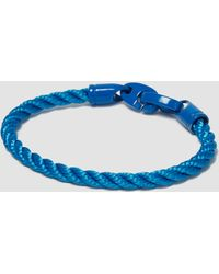 Sailormade - Blue And Aqua Rope Bracelet Blue - Lyst