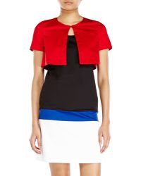 Love Moschino Color Block Dress With Jacket - Lyst