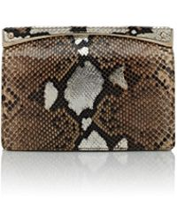 Zagliani - Python Sharon Small Clutch - Lyst