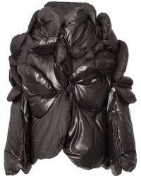 Junya Watanabe Circular Panel Zipped Puffa Coat Black - Lyst