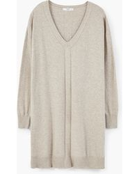 Mango | Knit Cotton-blend Dress | Lyst