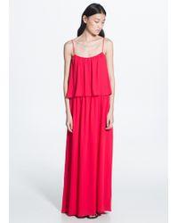 Mango Double Layer Dress - Lyst
