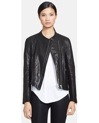 Helmut Lang Women'S Blistered Leather Jacket - Lyst