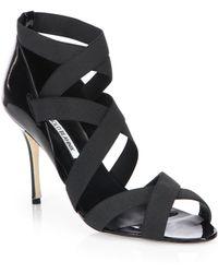 Manolo Blahnik Platee Elastic Strappy Sandals - Lyst