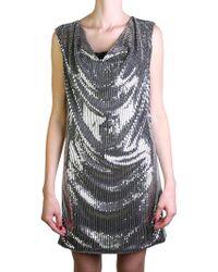 Saint Laurent | Silver Dress | Lyst