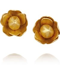 Pippa Small - 18karat Gold Flower Earrings - Lyst