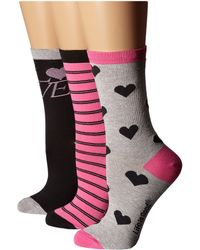 Life Is Good. - Valentine's Day Crew Sock 3-pack - Lyst